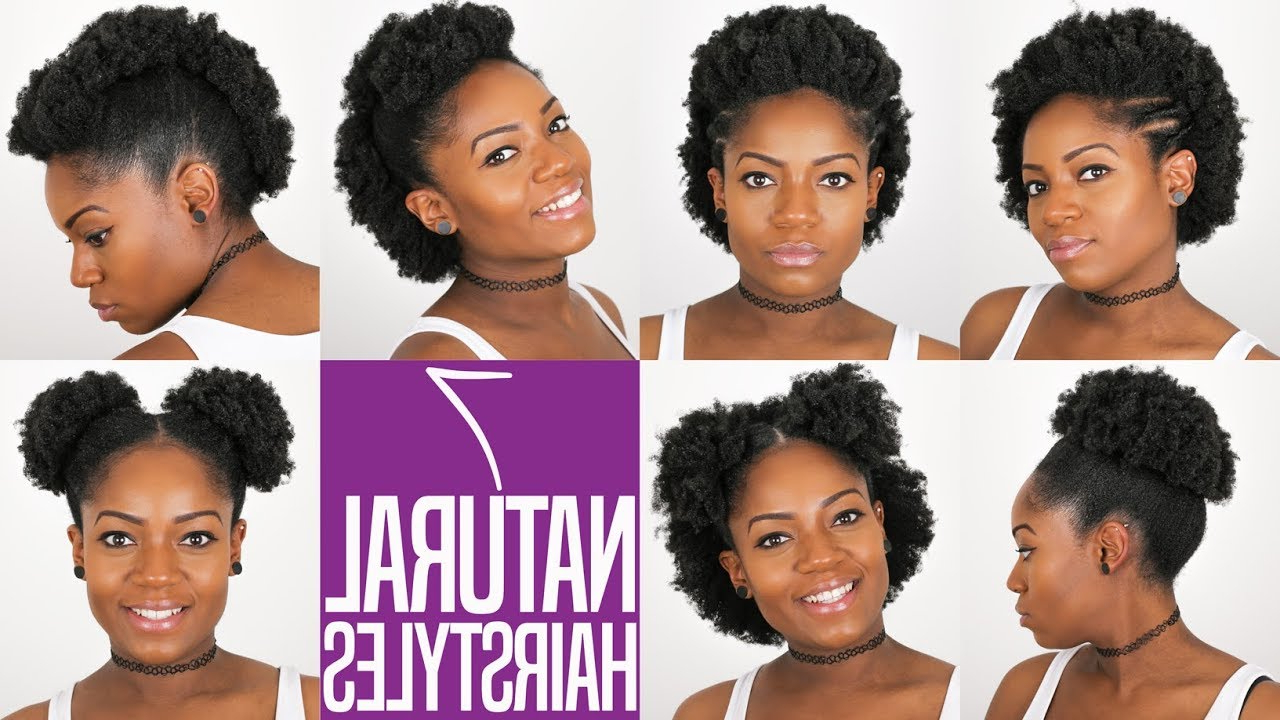 7 Natural Hairstyles (For Short To Medium Length Natural Hair) (4B Regarding Current Natural Medium Haircuts For Black Women (Gallery 8 of 20)