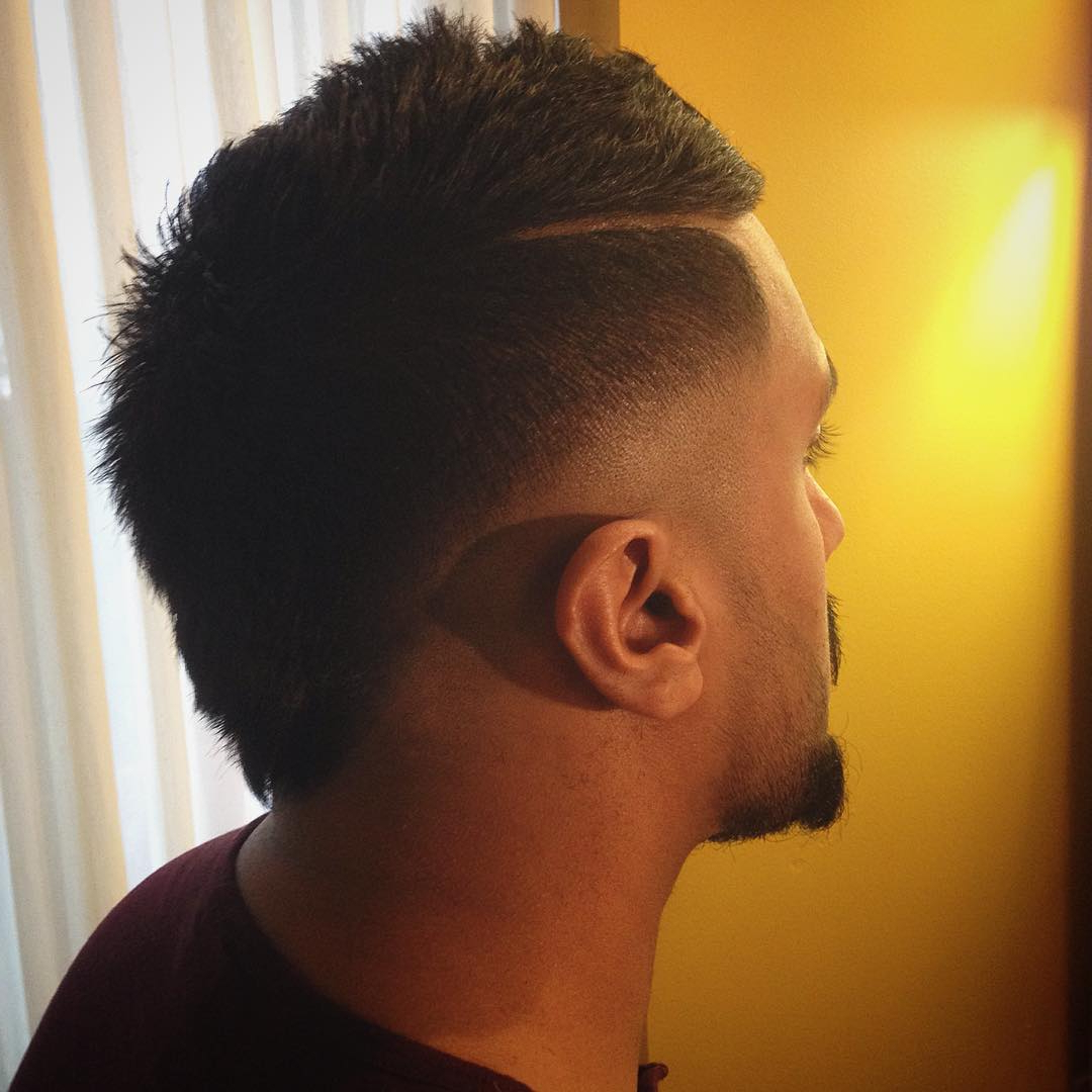 70 Amazing Sexy Faux Hawk Fade Haircuts – (new In 2018) With Regard To 2018 The Faux Hawk Mohawk Hairstyles (View 12 of 20)