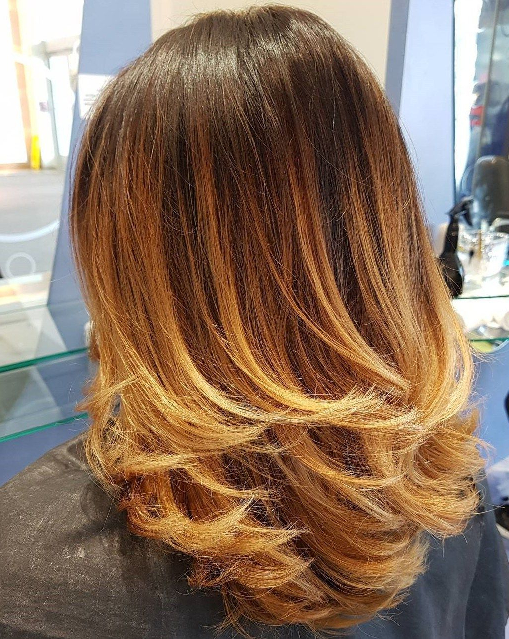 Featured Photo of Medium Haircuts With Fiery Ombre Layers