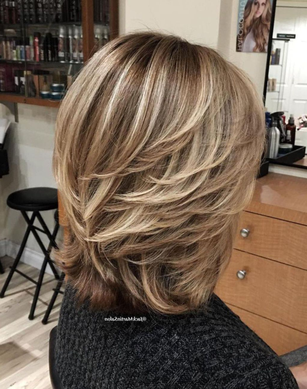 80 Best Modern Haircuts And Hairstyles For Women Over 50 In 2018 Regarding Current Swoopy Layers Hairstyles For Voluminous And Dynamic Hair (Gallery 10 of 20)