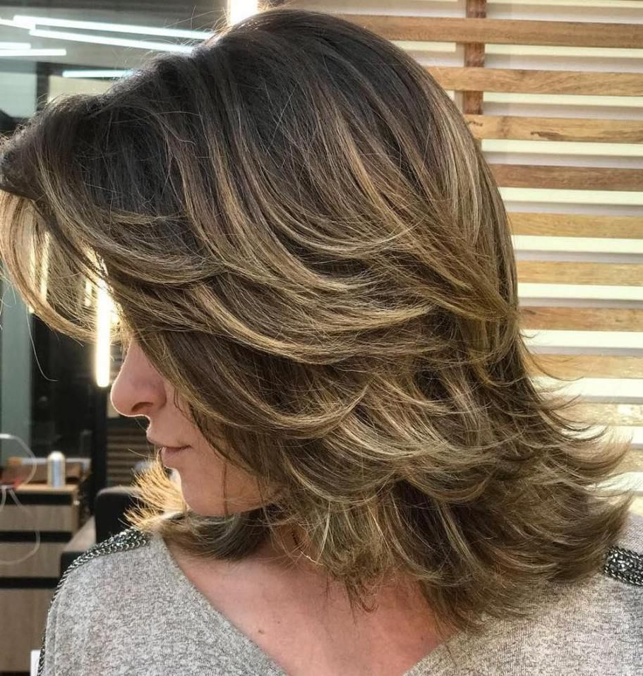 80 Sensational Medium Length Haircuts For Thick Hair In 2018 With Famous Medium Feathered Haircuts For Thick Hair (View 4 of 20)