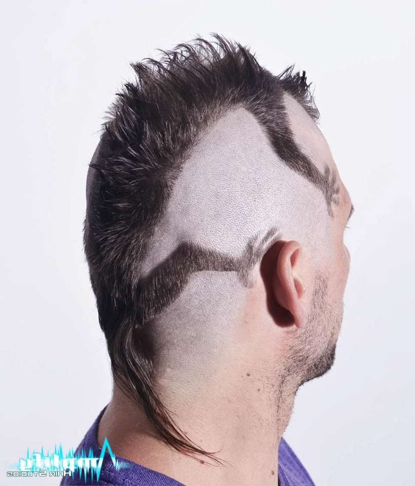 A Funky Men's Mohawk Haircut. This Hairstyle Is A Mohawk Cut To Look Regarding 2018 Textured Blue Mohawk Hairstyles (Gallery 20 of 20)