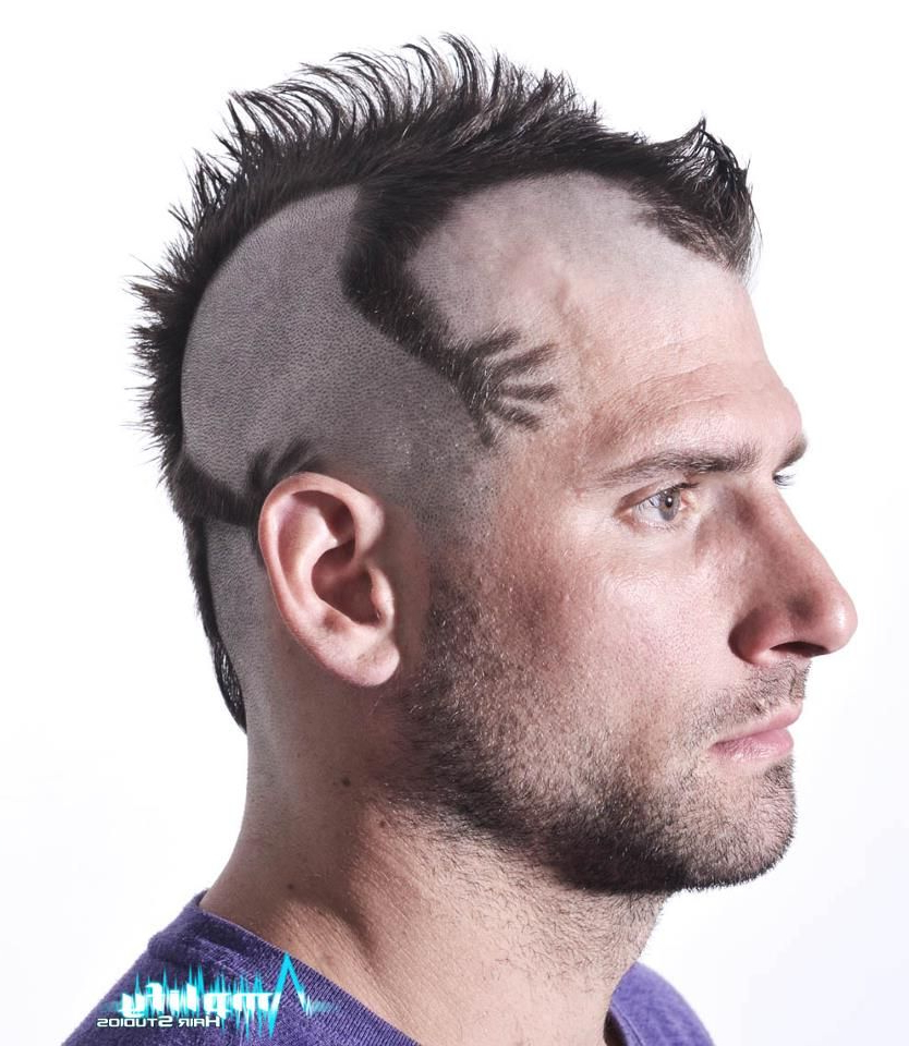 A Funky Men's Mohawk Haircut. This Hairstyle Is A Mohawk Cut To Look Regarding Fashionable Silvery White Mohawk Hairstyles (Gallery 7 of 20)