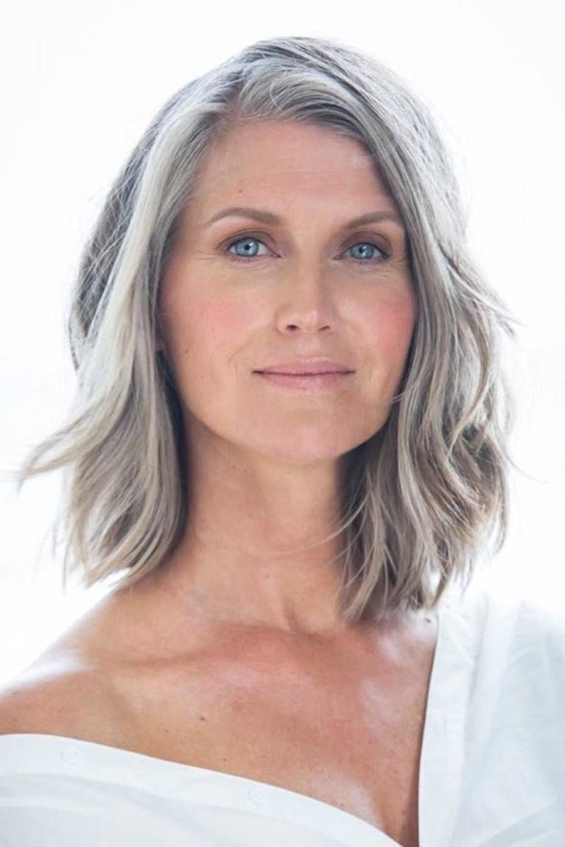 Featured Photo of Medium Haircuts For Grey Haired Woman