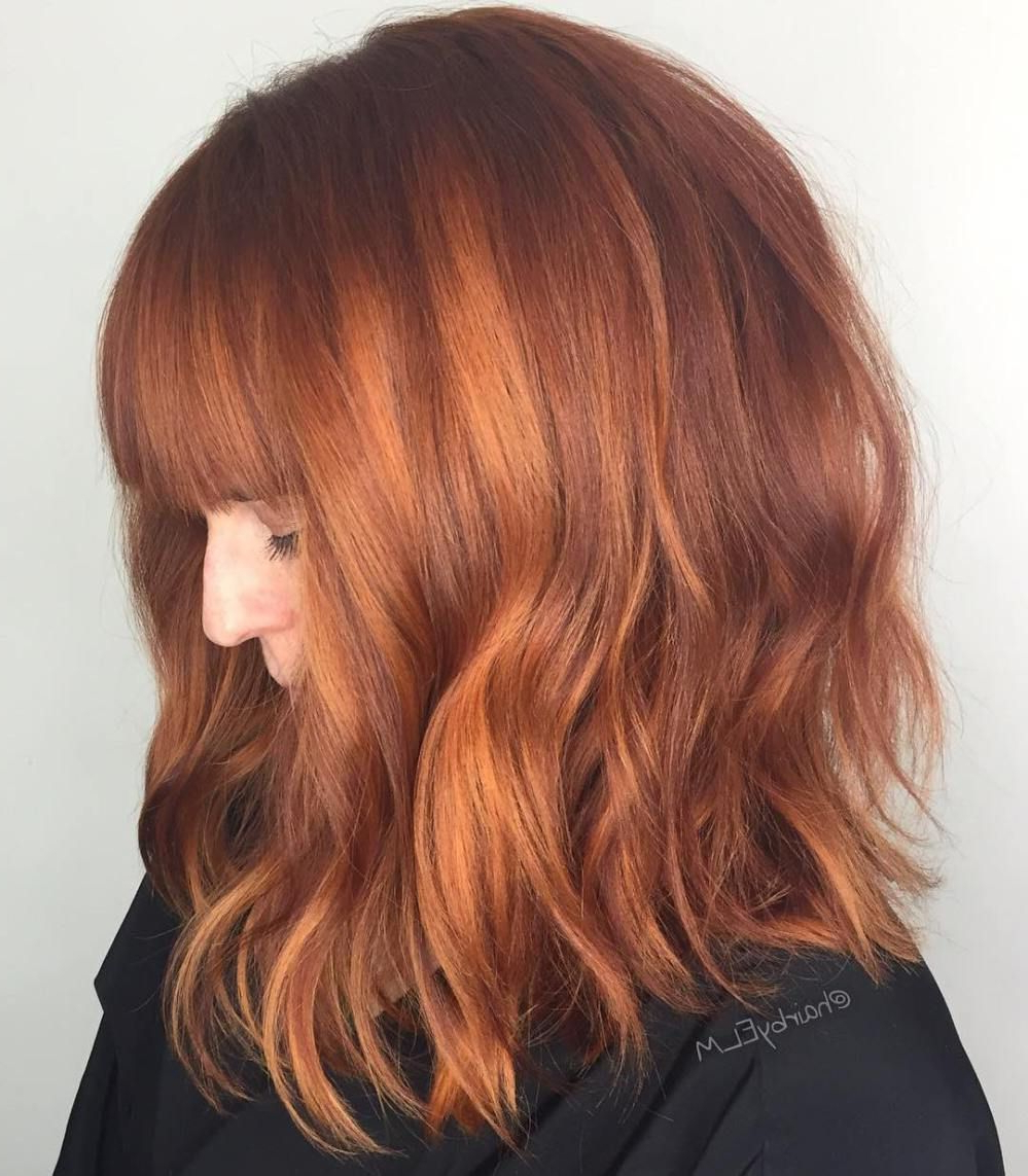 A's Hair With Latest Medium Haircuts With Red Color (View 5 of 20)