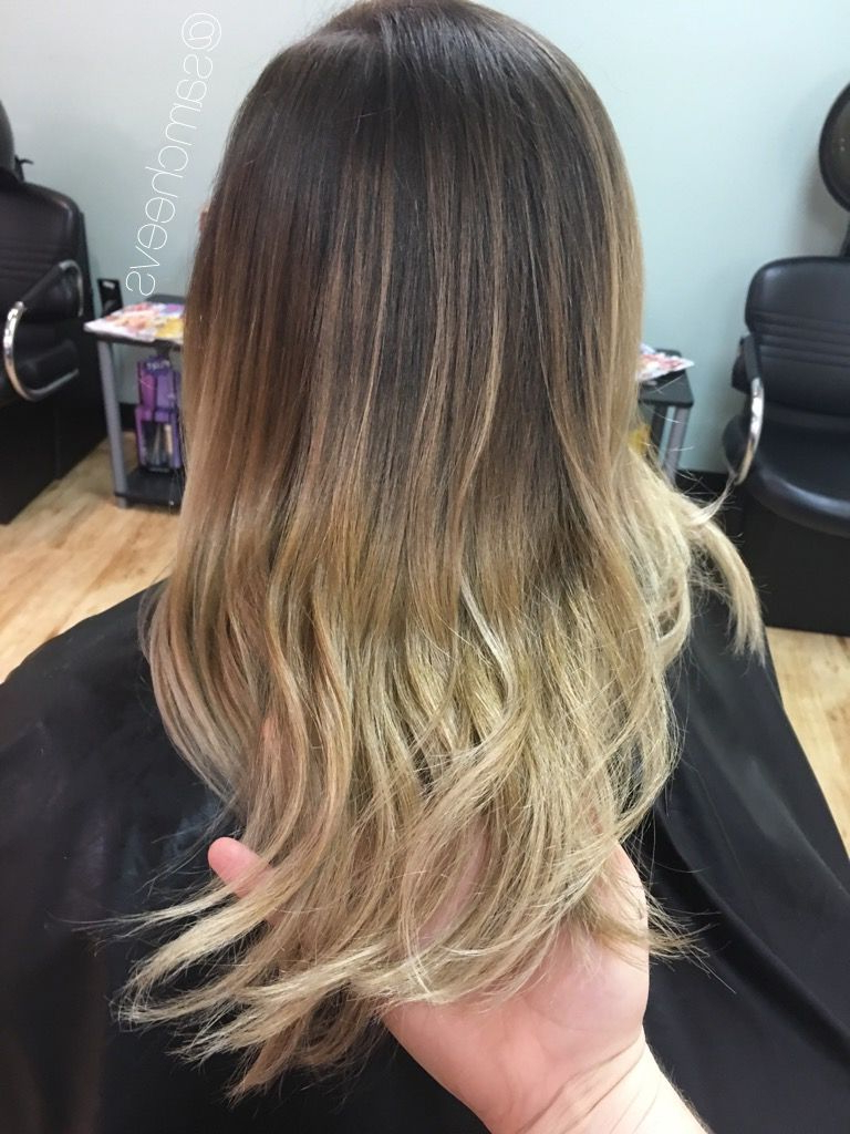 Balayage Ombre For Dark Hair // Dirty Blonde Pearl Platinum Salty Pertaining To 2017 Salty Beach Blonde Layers Hairstyles (View 14 of 20)