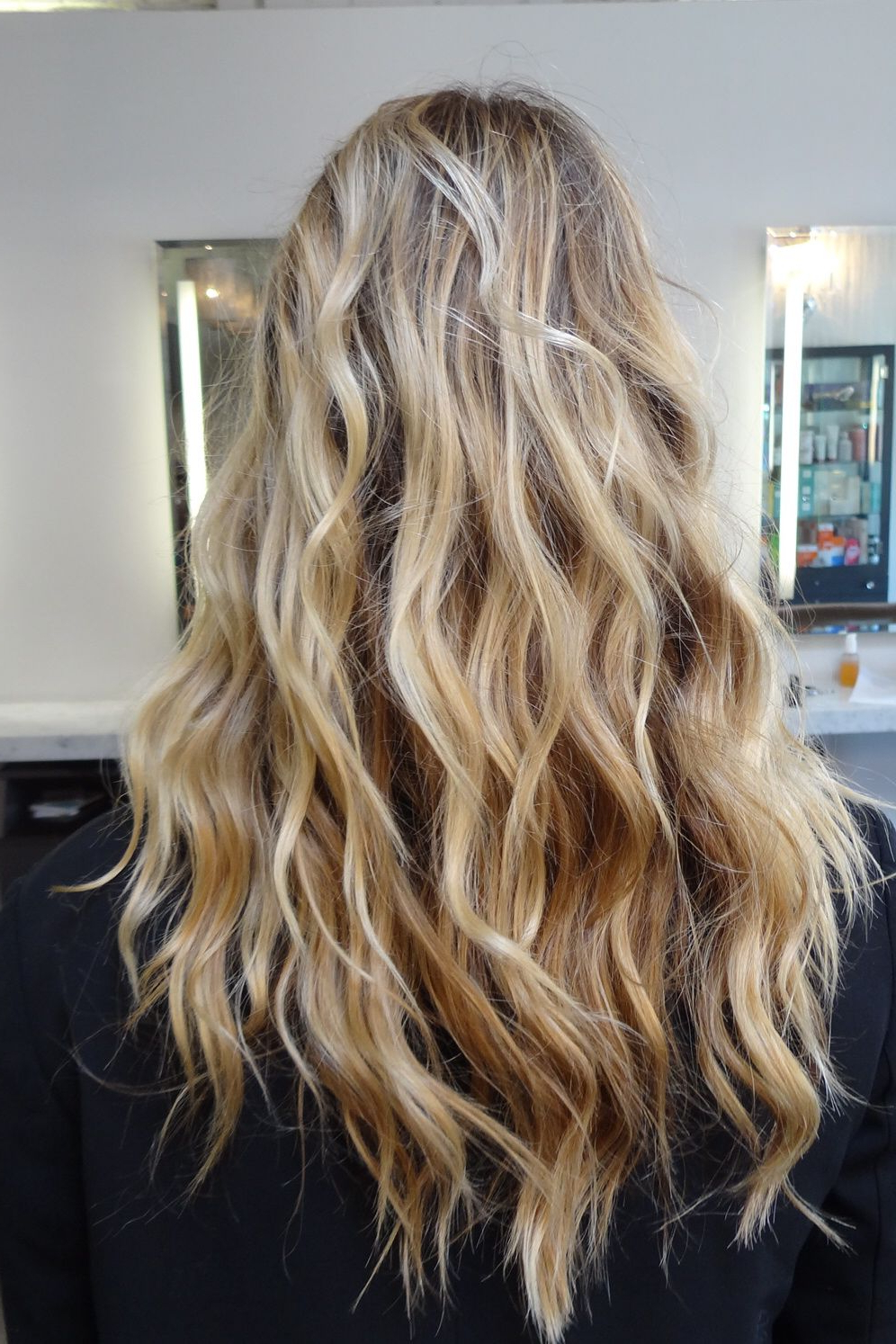 Beachy Blonde Highlights With Long Layers And Waves For Texture Inside Well Liked Salty Beach Blonde Layers Hairstyles (View 3 of 20)