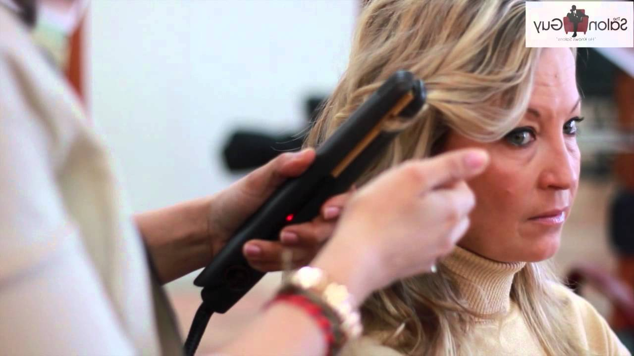 Beachy Waves Celebrity Hair With A Flat Iron Feat (View 13 of 20)