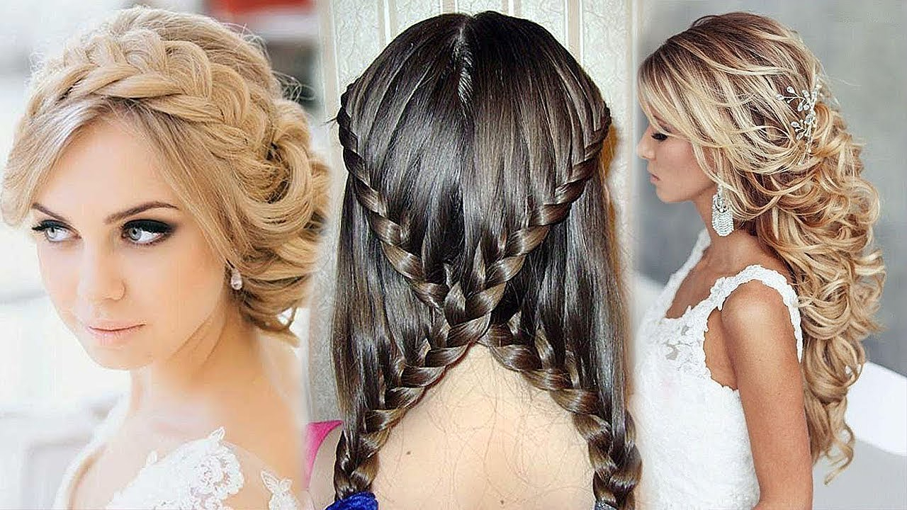 Beautiful Wedding Prom Hairstyle For Long Hair Medium Hair, Braided In Latest Bridal Medium Hairstyles (View 4 of 20)