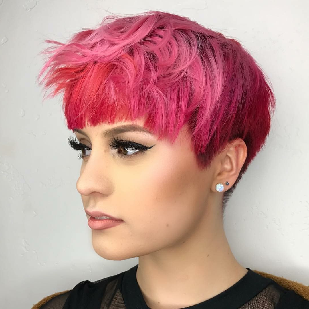 Beauty: Fantasy Unicorn Purple Violet Red Cherry Pink Yellow Bright Intended For Most Recent Hot Pink Fire Mohawk Hairstyles (View 7 of 20)