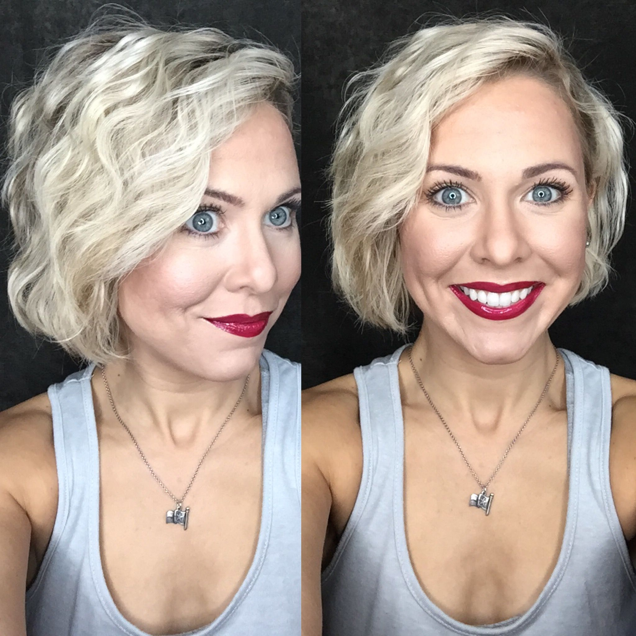 Bed Head Wave Artist On Short Hair. All Senegence Makeup (View 7 of 20)