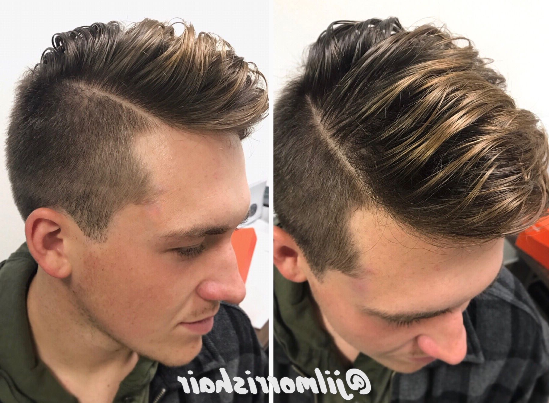 Beige Blonde Balayage Highlights For Men, Brolayage, Men's Hair With Regard To Fashionable Mohawk Haircuts With Blonde Highlights (View 6 of 20)