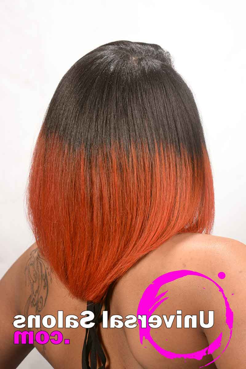 Best And Newest Fire Red Medium Hairstyles For Elegant Bob Hairstyle With Fire Red Hair Color From Ursula Kershaw (View 11 of 20)