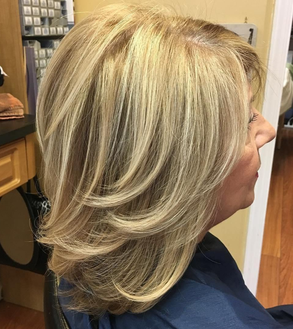 Best And Newest Flipped Lob Hairstyles With Swoopy Back Swept Layers Within 60 Best Hairstyles And Haircuts For Women Over 60 To Suit Any Taste (View 8 of 20)