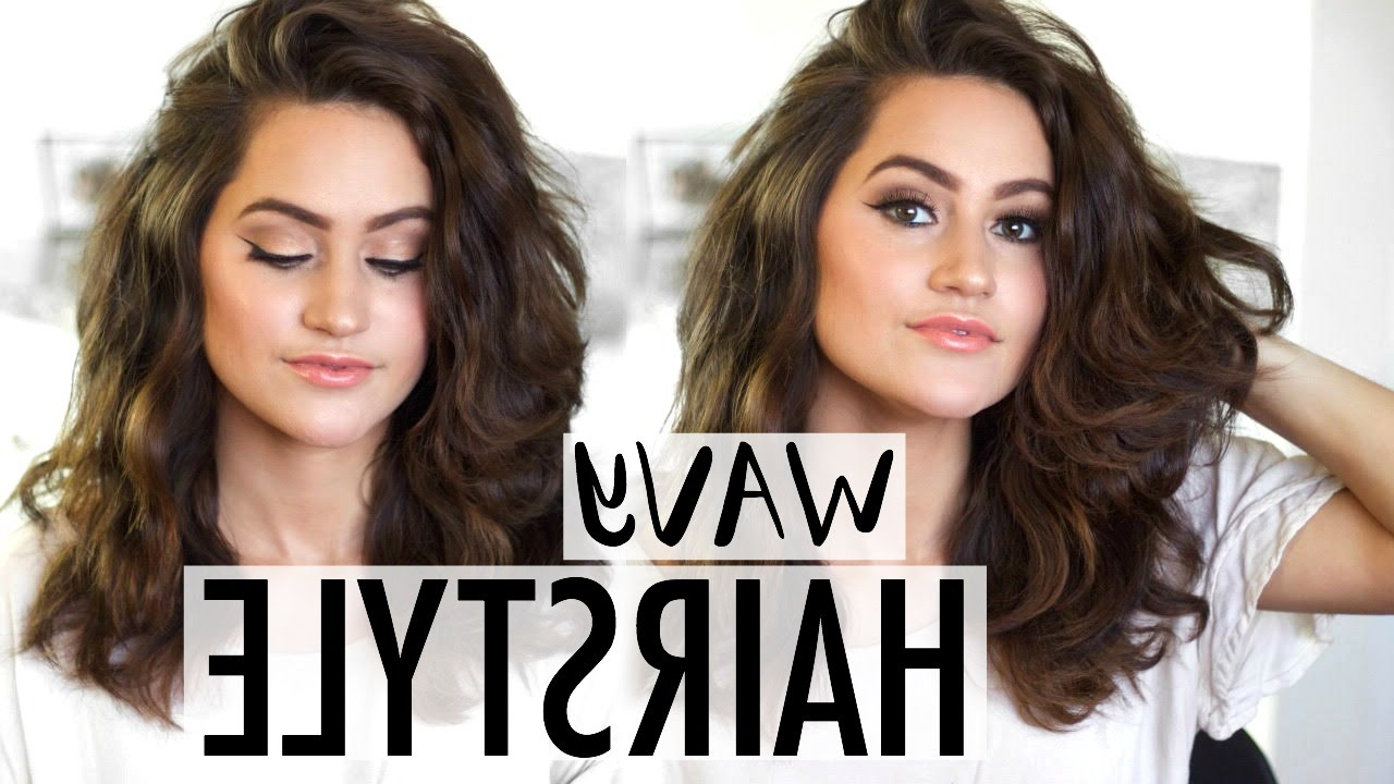 Best And Newest Medium Haircuts For Wavy Hair Within How To: Easy Wavy Hairstyle Tutorial (View 6 of 20)