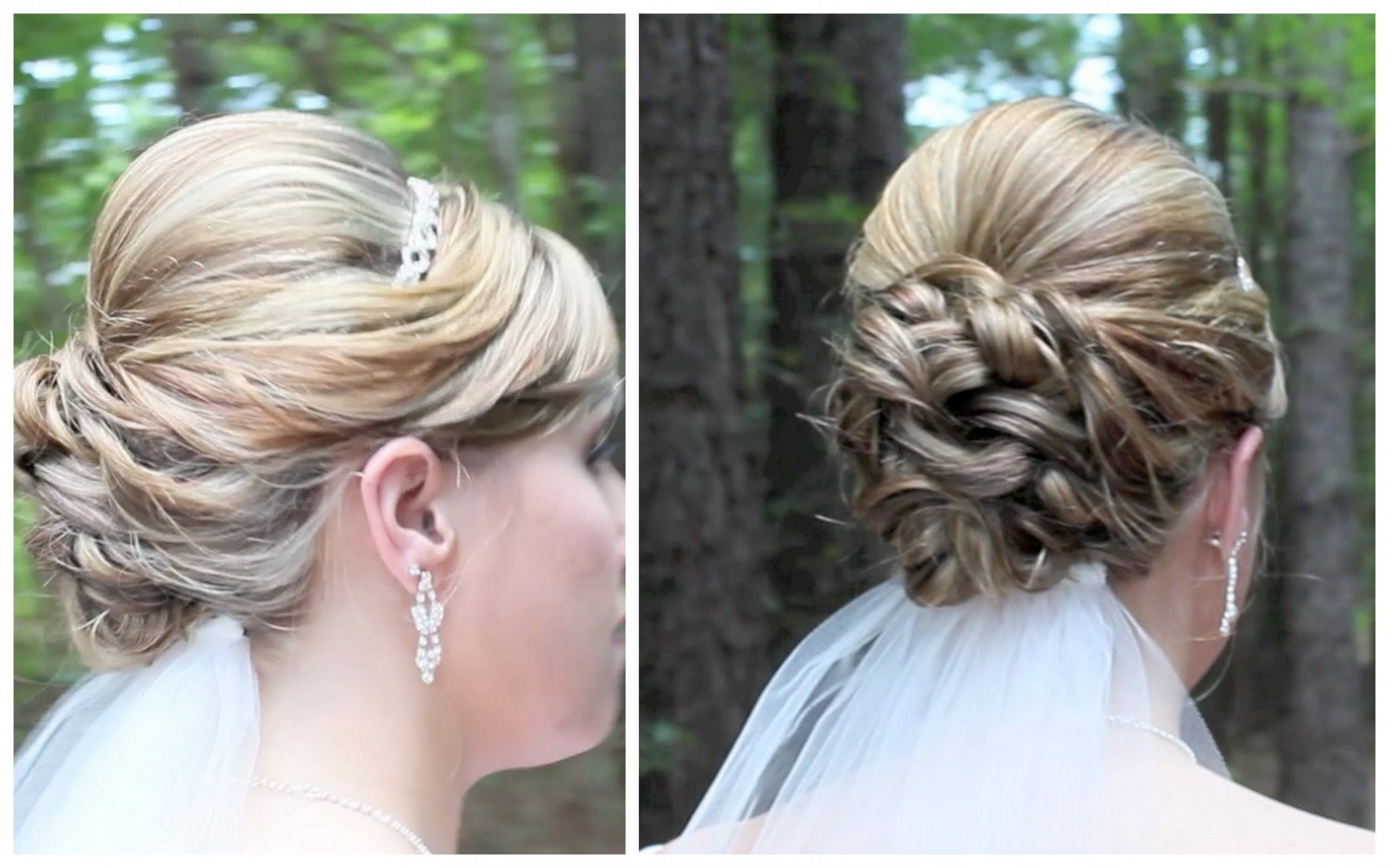 Best And Newest Medium Hairstyles Bridesmaids With Regard To Length Wedding Hairstyles Bridal Updo On Shoulder Hair For Medium (View 4 of 20)