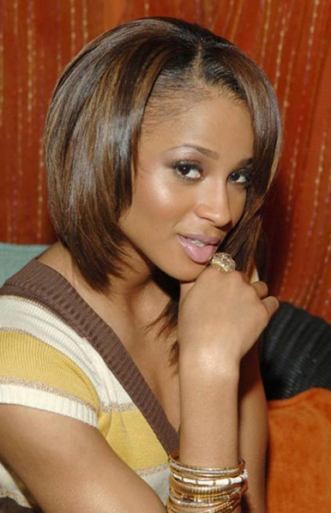 Best And Newest Medium Hairstyles For African American Women With Round Faces Inside Shoulder Length Bob Hairstyles For Black Women Medium Length Bob (Gallery 1 of 20)