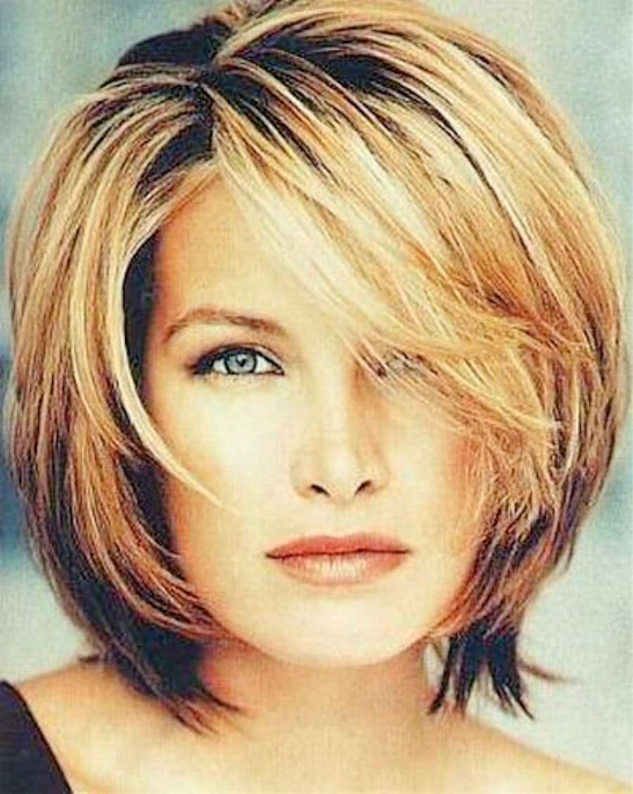 Best And Newest Medium Hairstyles For Thick Hair Over 40 Regarding Women Hairstyle : Winsome Medium Short Cute Hairstyles Women Haircut (View 3 of 20)