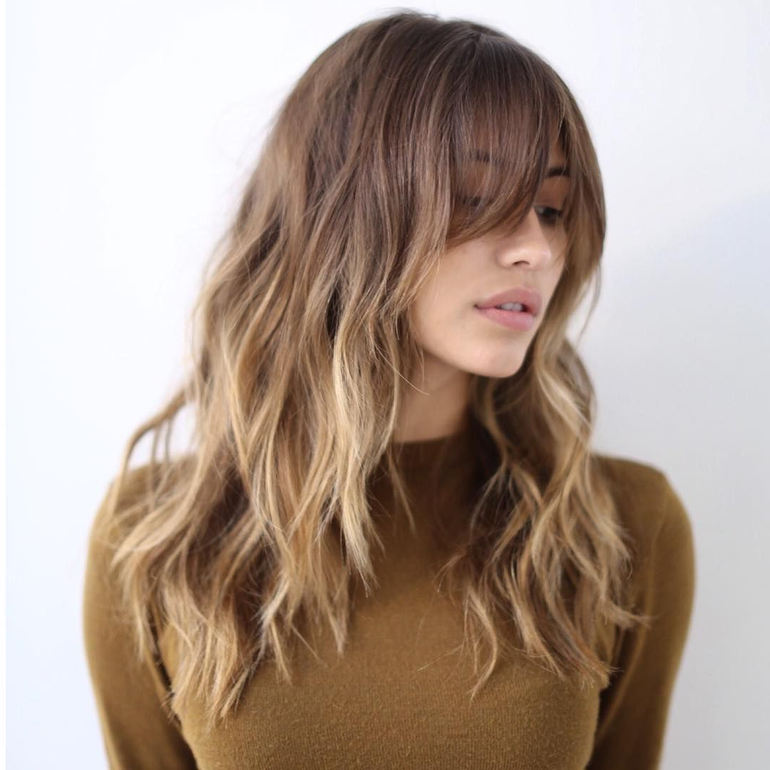 Best And Newest Medium Hairstyles With A Fringe With 36 Stunning Hairstyles & Haircuts With Bangs For Short, Medium Long (View 12 of 20)