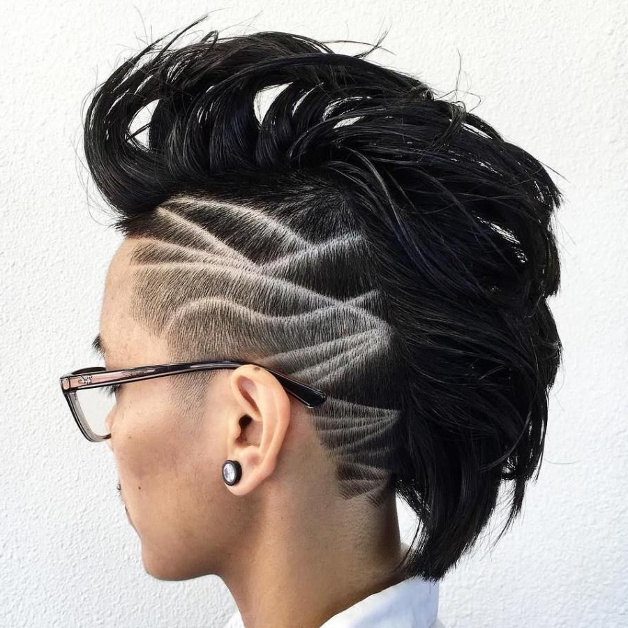 Black Natural Hair In 2017 Platinum Mohawk Hairstyles With Geometric Designs (View 6 of 20)