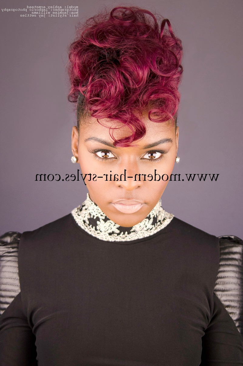 Black Women Hair Styles, Of Bobs, Pixies, 27 Piece Weaves, Mohawks With Most Up To Date Curly Haired Mohawk Hairstyles (View 18 of 20)