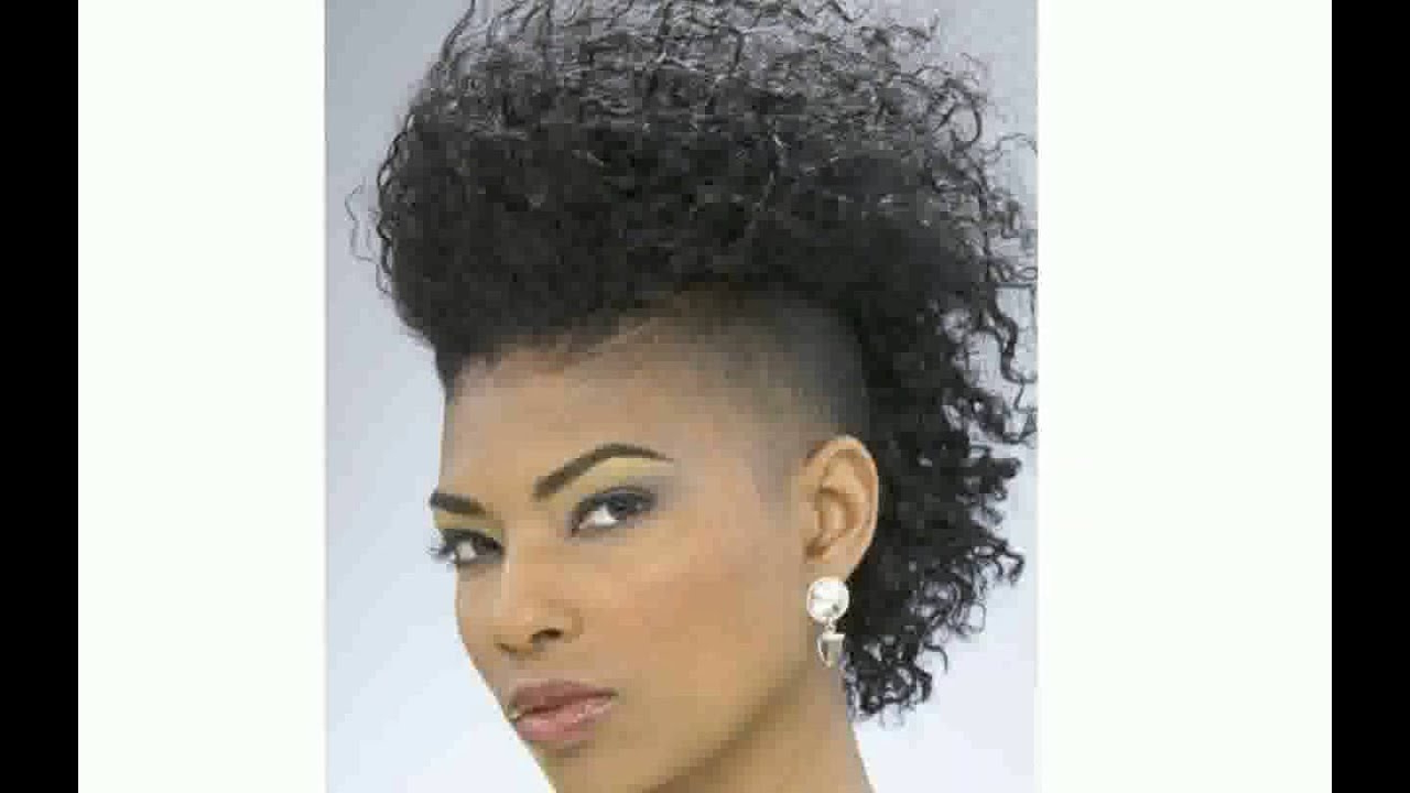 Black Women With Mohawk Hairstyle – Youtube With Fashionable Black Mohawk Hairstyles (View 5 of 20)