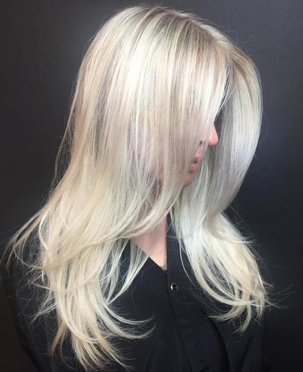 Blonde Layered Hair Intended For Recent Platinum Layered Side Part Hairstyles (View 3 of 20)