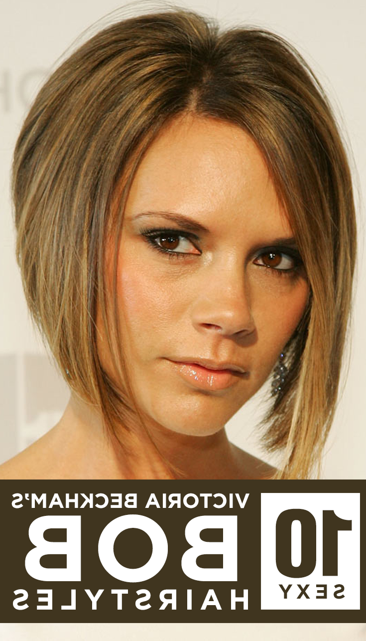 Bob Hairstyles With Recent Victoria Beckham Medium Hairstyles (View 13 of 20)