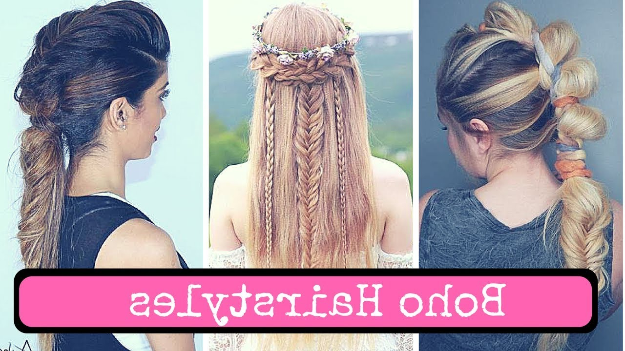 Boho Hairstyles For Long Hair, Short Hair And Medium Hair (2018 With Most Up To Date Boho Medium Hairstyles (View 9 of 20)