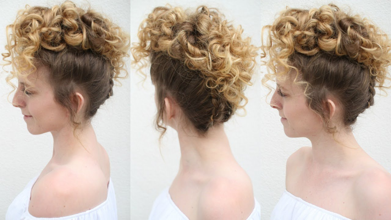 Braided Curly Updo (View 3 of 20)