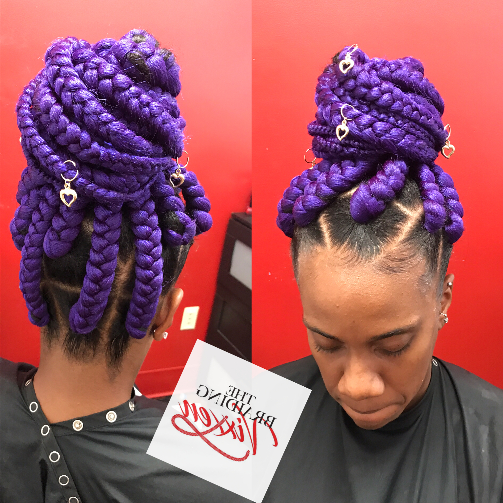 Featured Photo of Lavender Braided Mohawk Hairstyles
