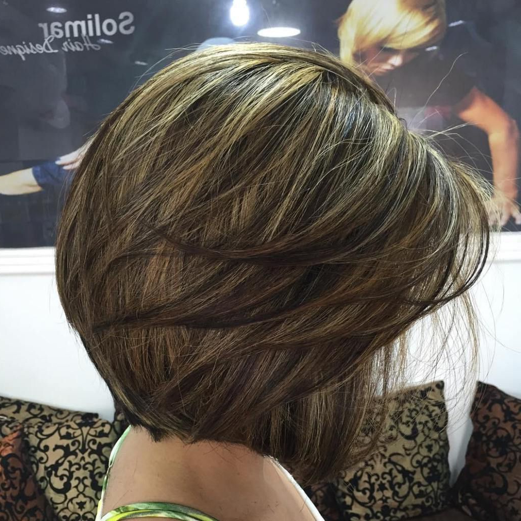 Brown Balayage Intended For Current Bob Haircuts With Symmetrical Swoopy Layers (Gallery 15 of 20)