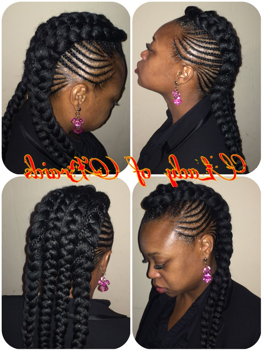 Cardi B Inspired Style Protective Hairstyle Ghana Feeding Cornrows Throughout Most Current Divine Mohawk Like Updo Hairstyles (View 7 of 20)