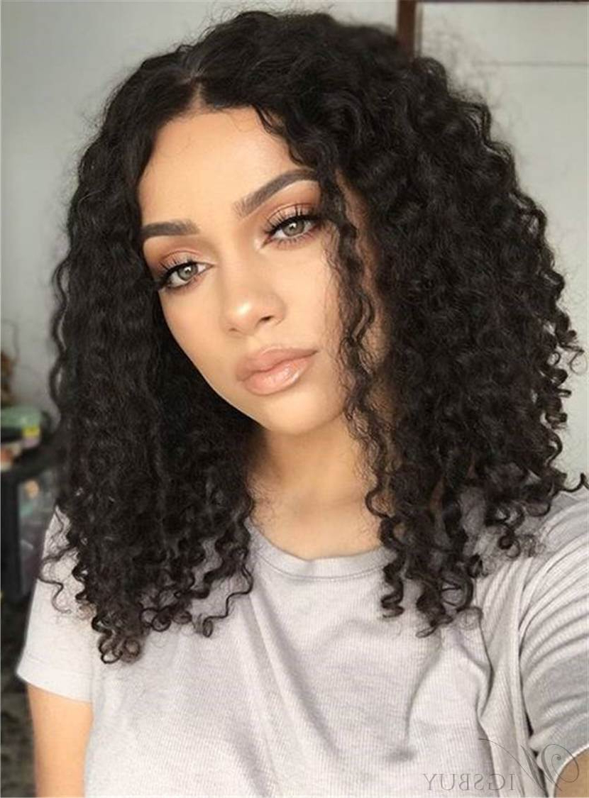 Cheap Curly African American Wigs Discount Curly Wigs For Black Within Current Curly Black Medium Hairstyles (View 6 of 20)