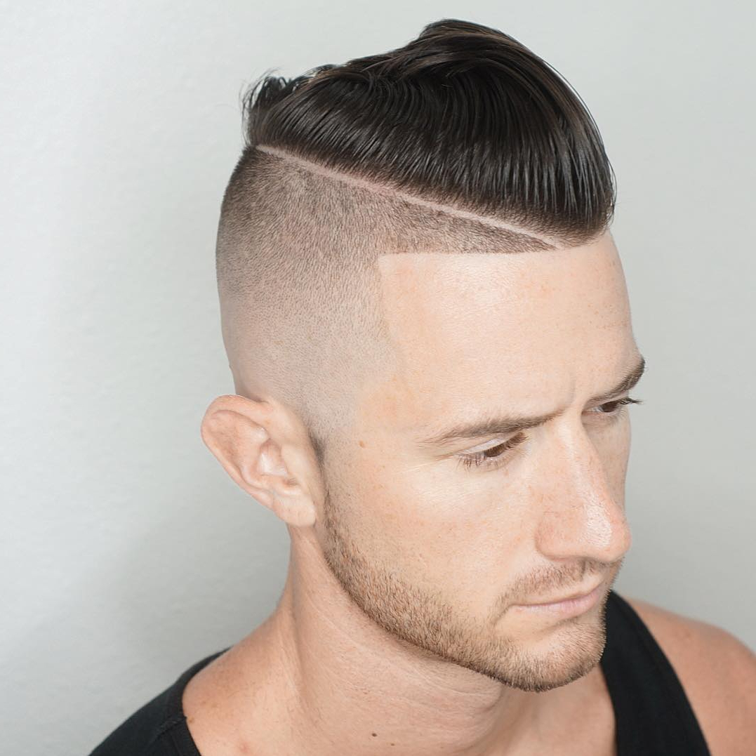 Cool Haircuts With Shaved Sides Intended For Widely Used Medium Haircuts With Shaved Sides (View 6 of 20)