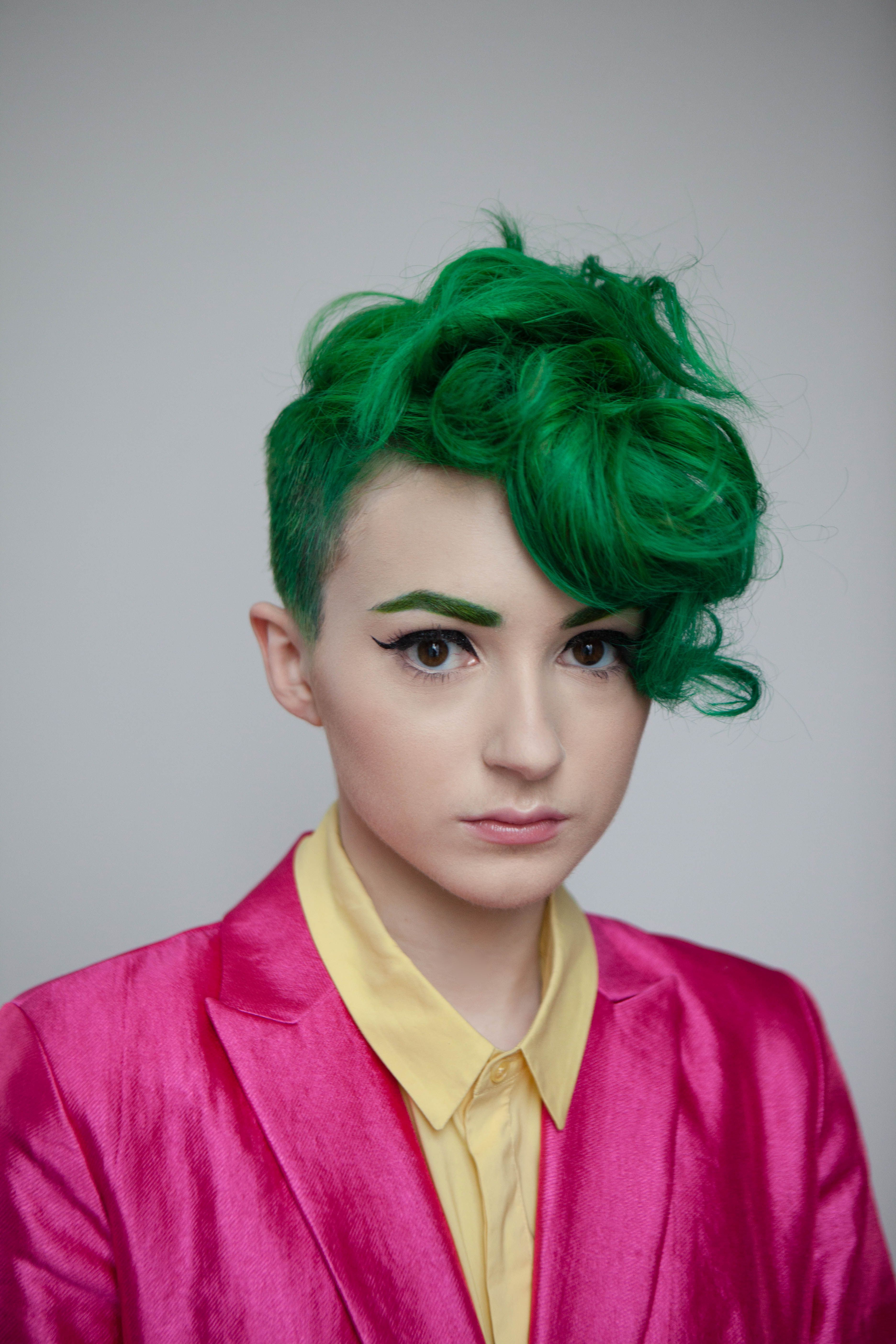 Curly Green Hair (View 8 of 20)