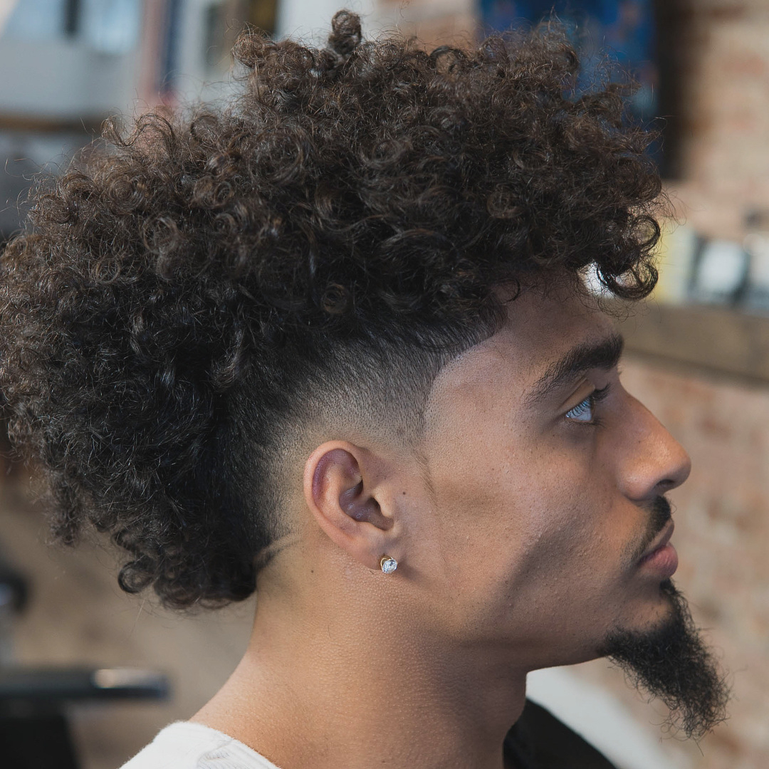 Curly Hairstyles : Awesome Curly Mohawk Hairstyle Decorating Ideas Inside Favorite Mohawks Hairstyles With Curls And Design (View 5 of 20)
