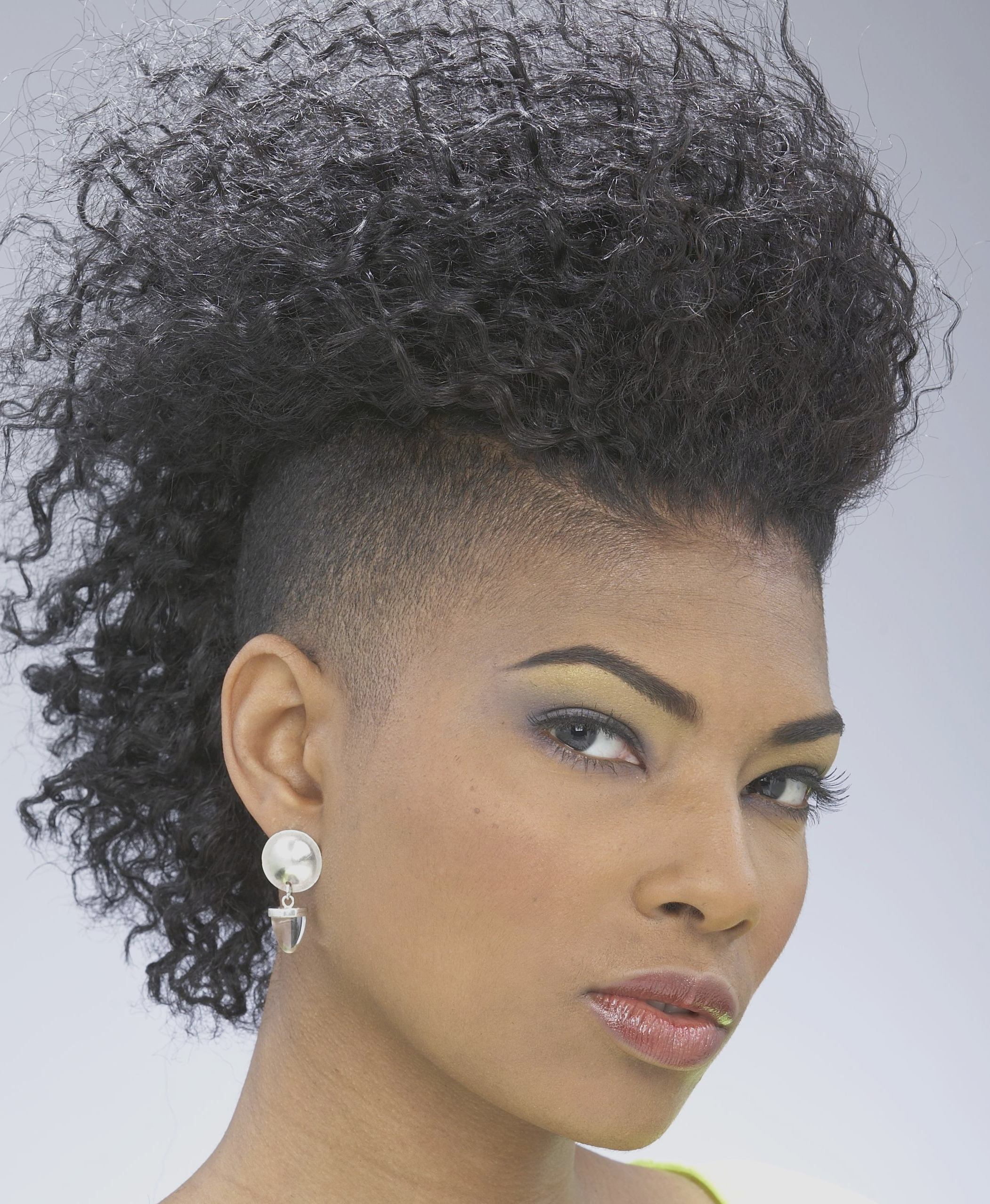 Curly Hairstyles : Fresh Short Curly Mohawk Hairstyles For Black With Preferred Mohawks Hairstyles With Curls And Design (View 7 of 20)