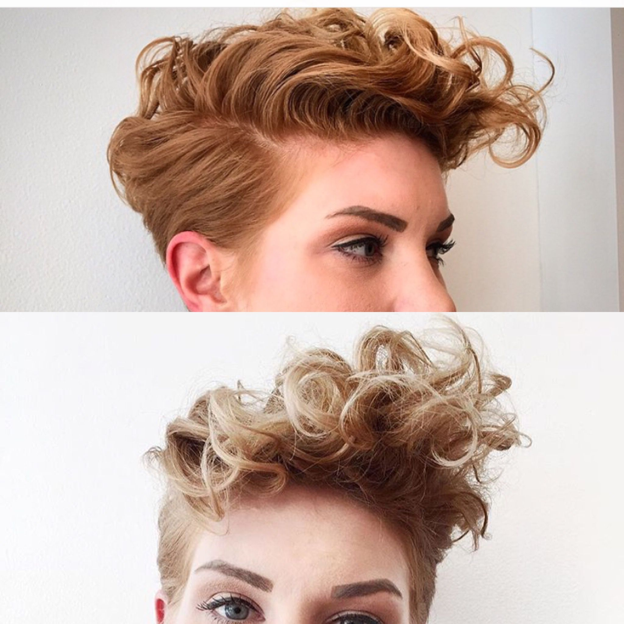 Curly Pixie, Hair And With Most Recently Released Asymmetrical Pixie Faux Hawk Hairstyles (View 8 of 20)