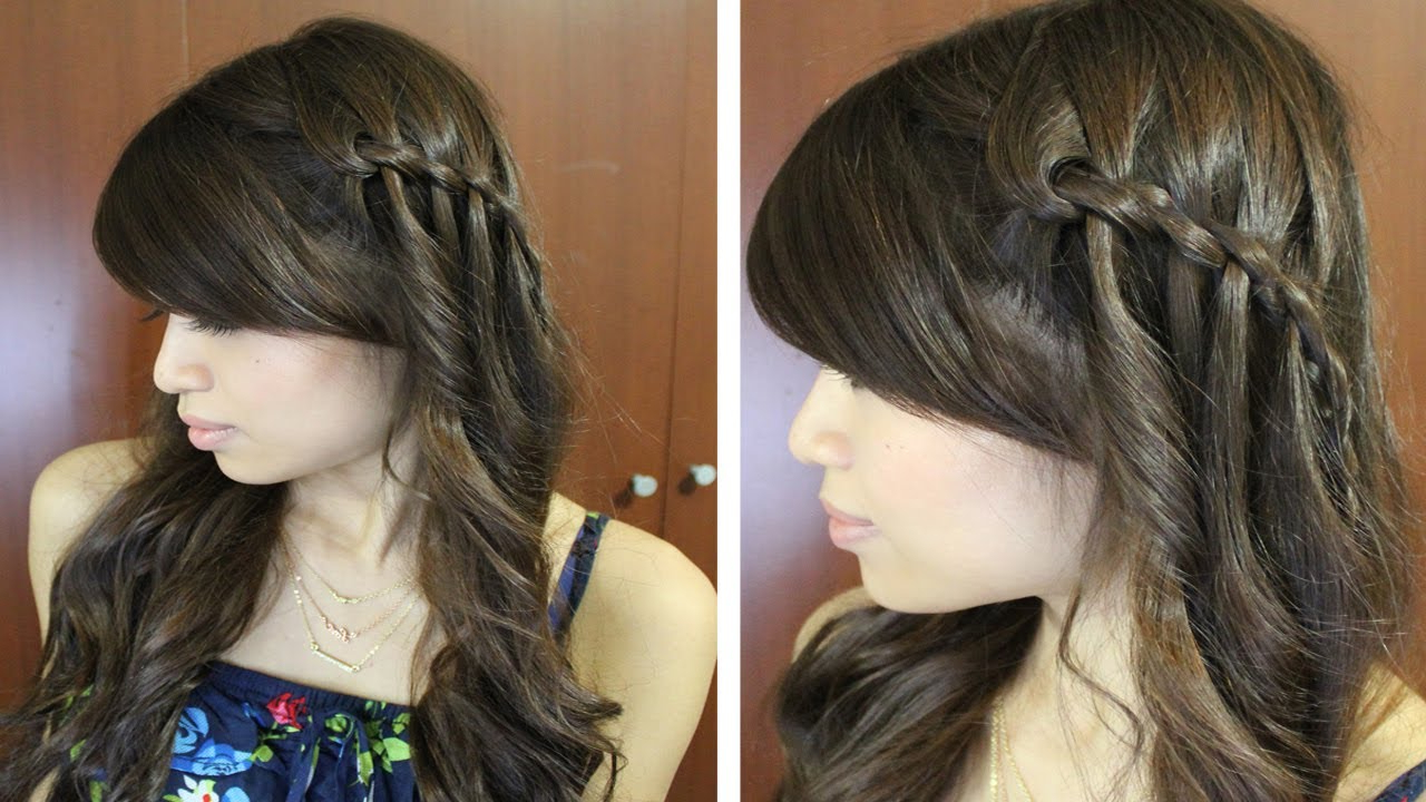 Current Boho Medium Hairstyles Within Boho Waterfall Twist Hairstyle For Medium Long Hair Tutorial – Youtube (View 14 of 20)