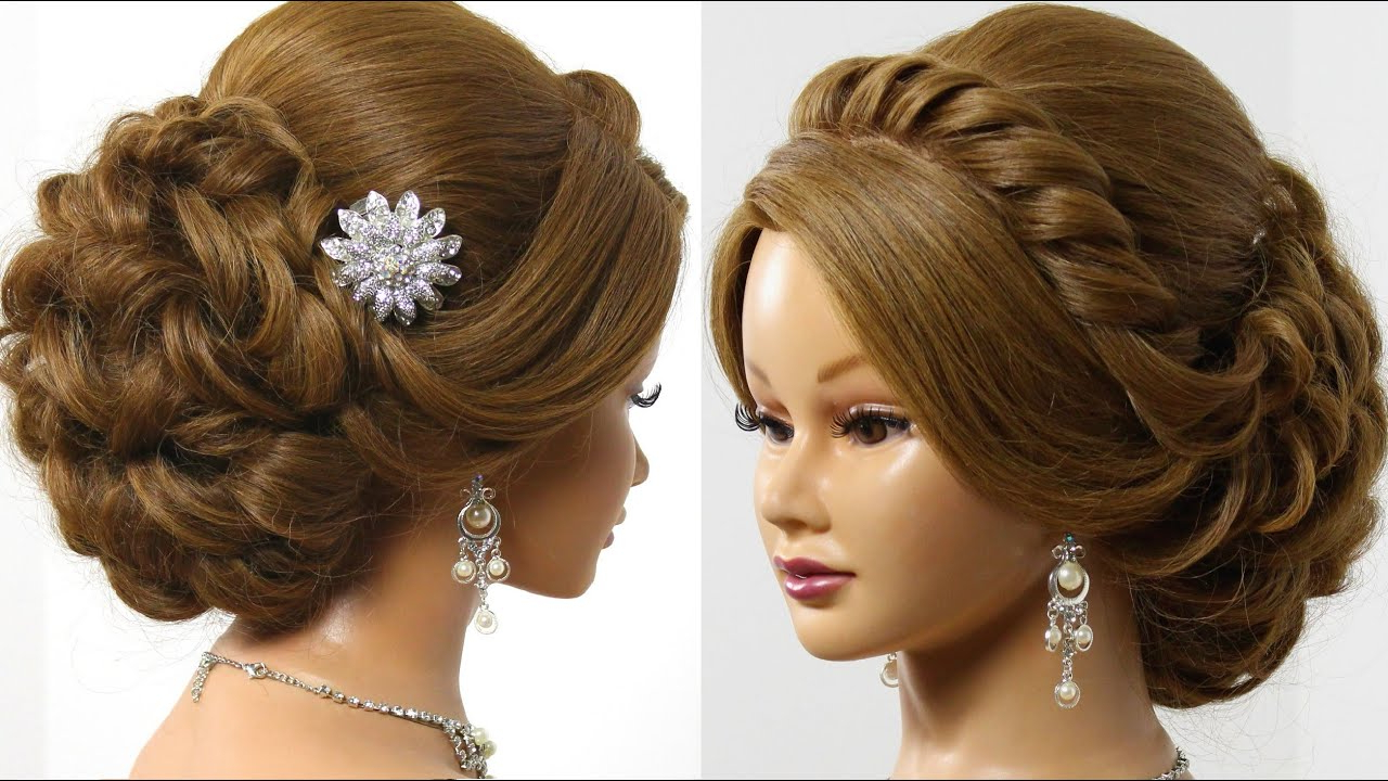 Current Brides Medium Hairstyles Inside Bridal Hairstyle For Long Medium Hair Tutorial. Romantic Updo (View 4 of 20)