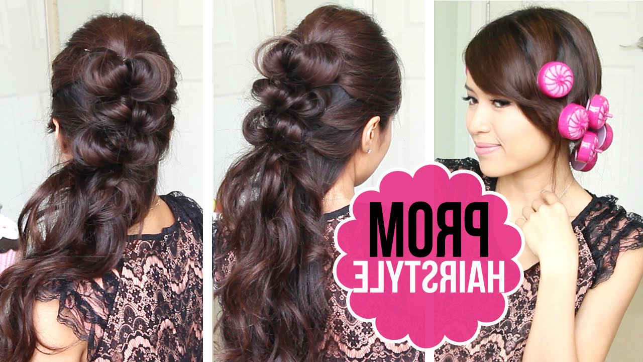 Current Cute Medium Hairstyles For Prom Regarding Easy Prom Hairstyle (View 14 of 20)