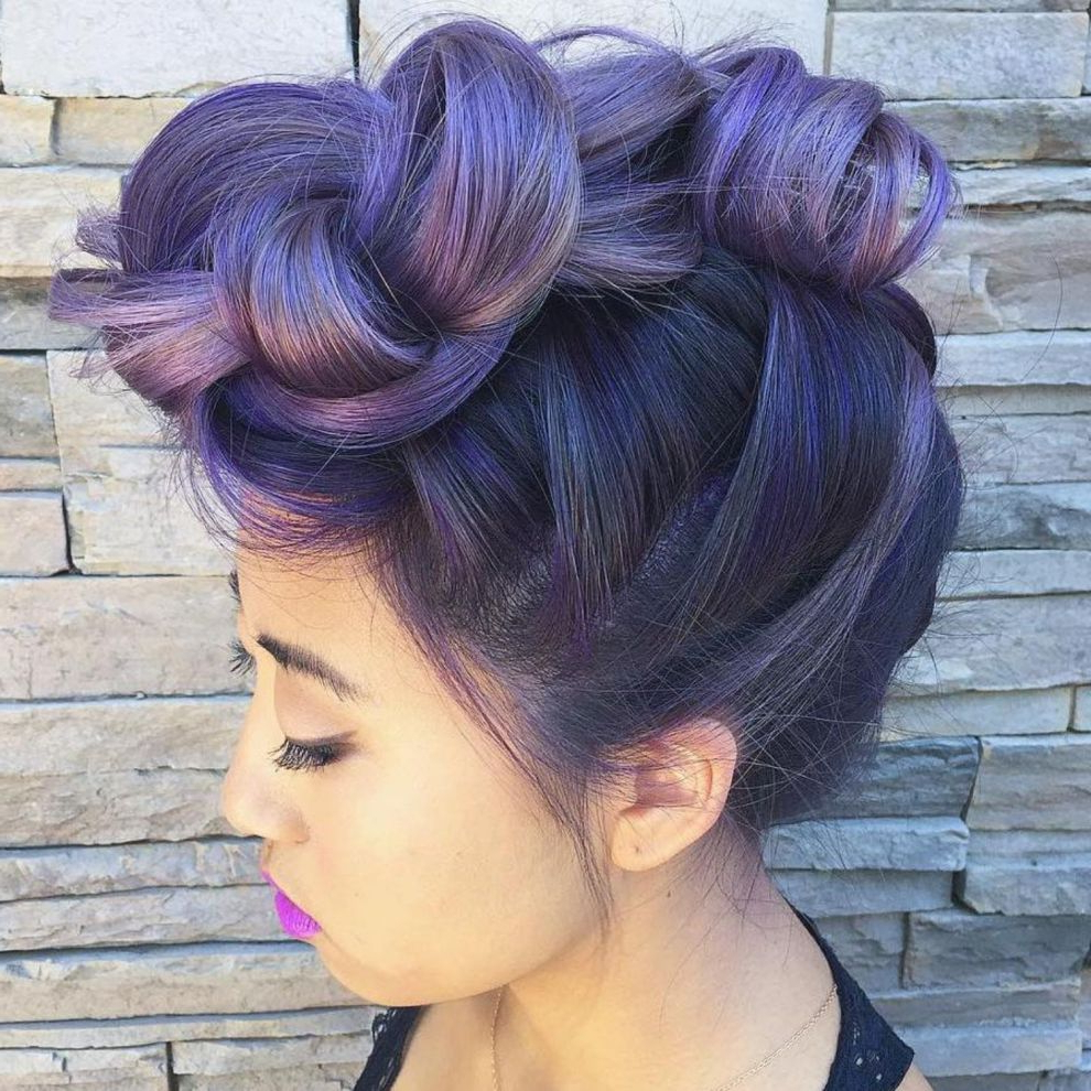 Featured Photo of Extravagant Purple Mohawk Hairstyles