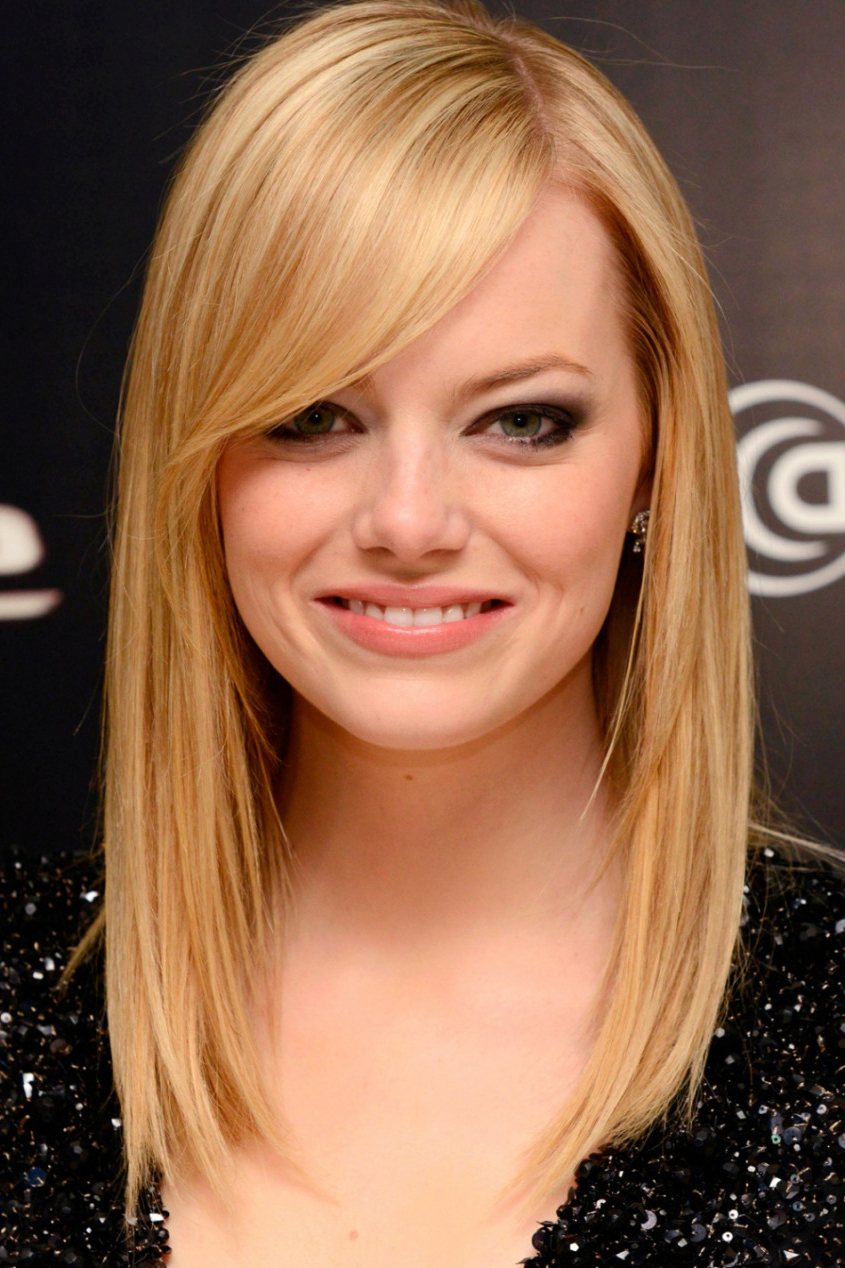 Photo Gallery Of Medium Haircuts For Fine Straight Hair
