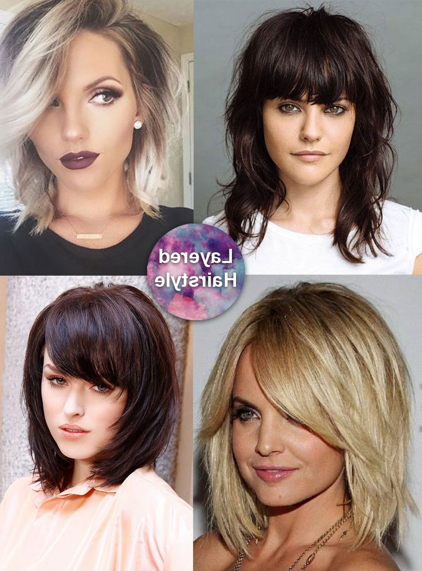 Current Medium Haircuts For Thick Hair With Bangs Throughout Best Medium Length Hairstyles For Thick Hair – Circletrest (View 10 of 20)
