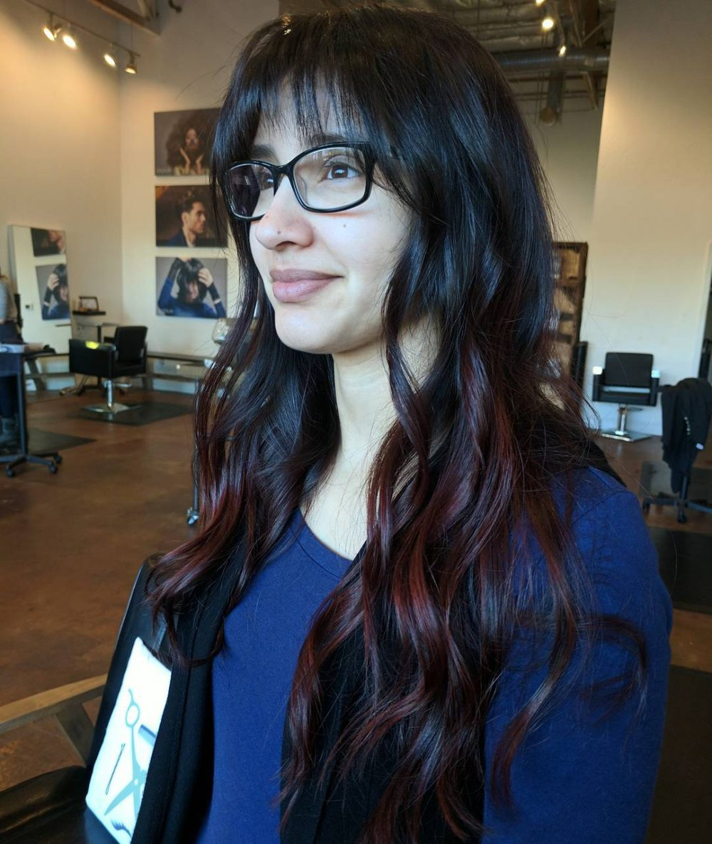 Current Medium Haircuts With Bangs And Glasses With 26 Sexiest Wispy Bangs You Need To Try In (View 6 of 20)