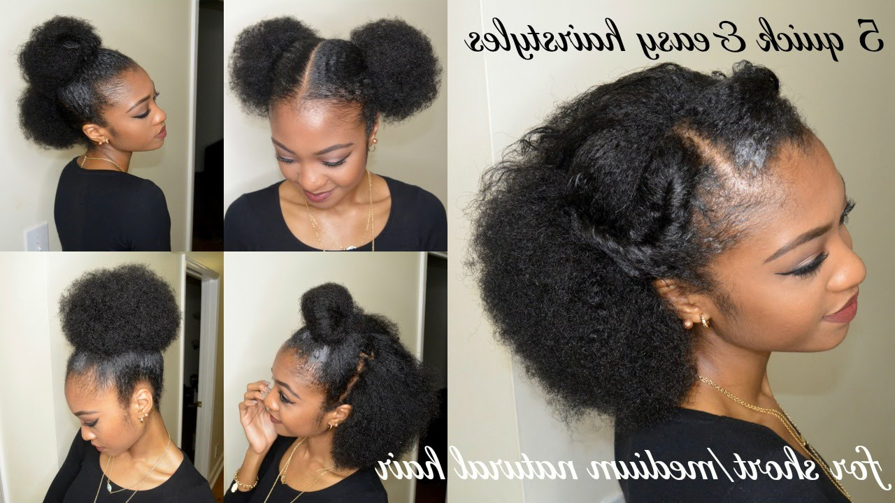 Current Medium Hairstyles For Natural Black Hair Regarding 5 Quick & Easy Hairstyles For Short/medium Natural Hair (View 7 of 20)