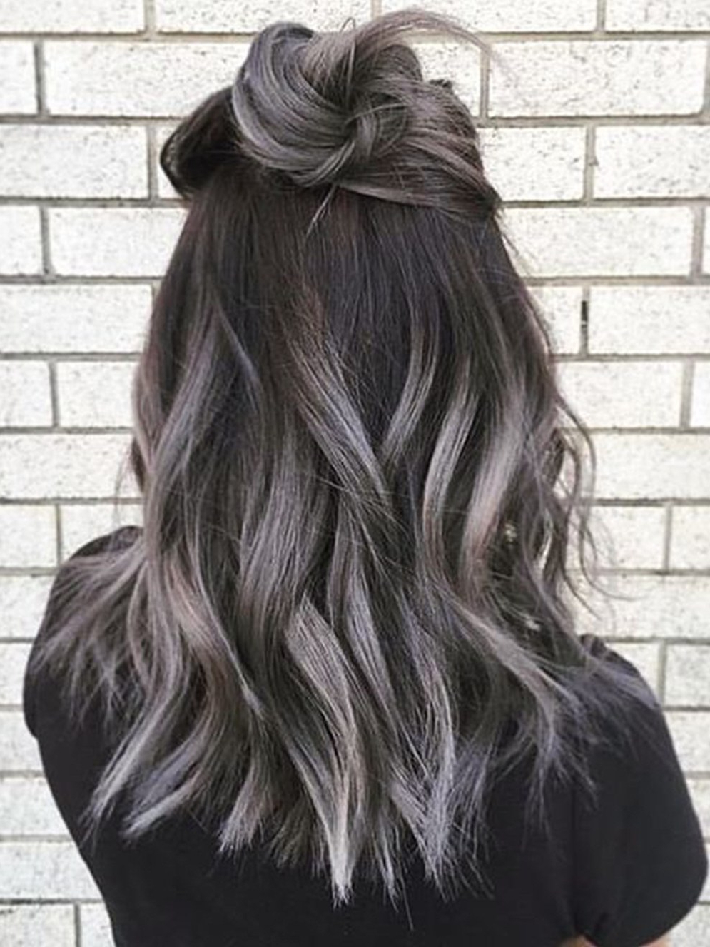 Current Medium Hairstyles For Women With Gray Hair Intended For The Gray Hair Trend: 32 Instagram Worthy Gray Ombré Hairstyles – Allure (View 12 of 20)