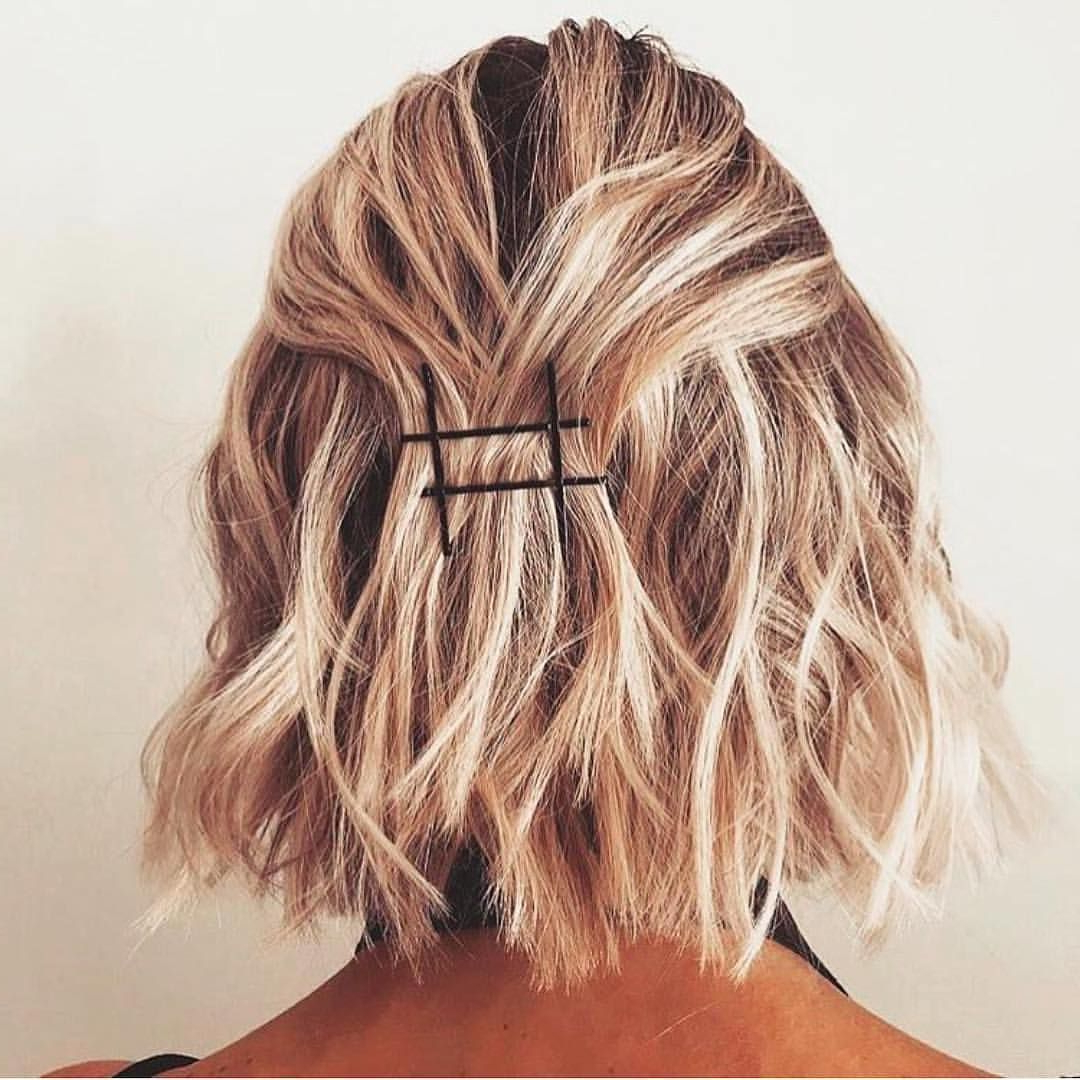 Current Medium Hairstyles With Bobby Pins With Regard To Amazing What A Few Bobby Pins Can Do, Isn't It? Regram (View 6 of 20)