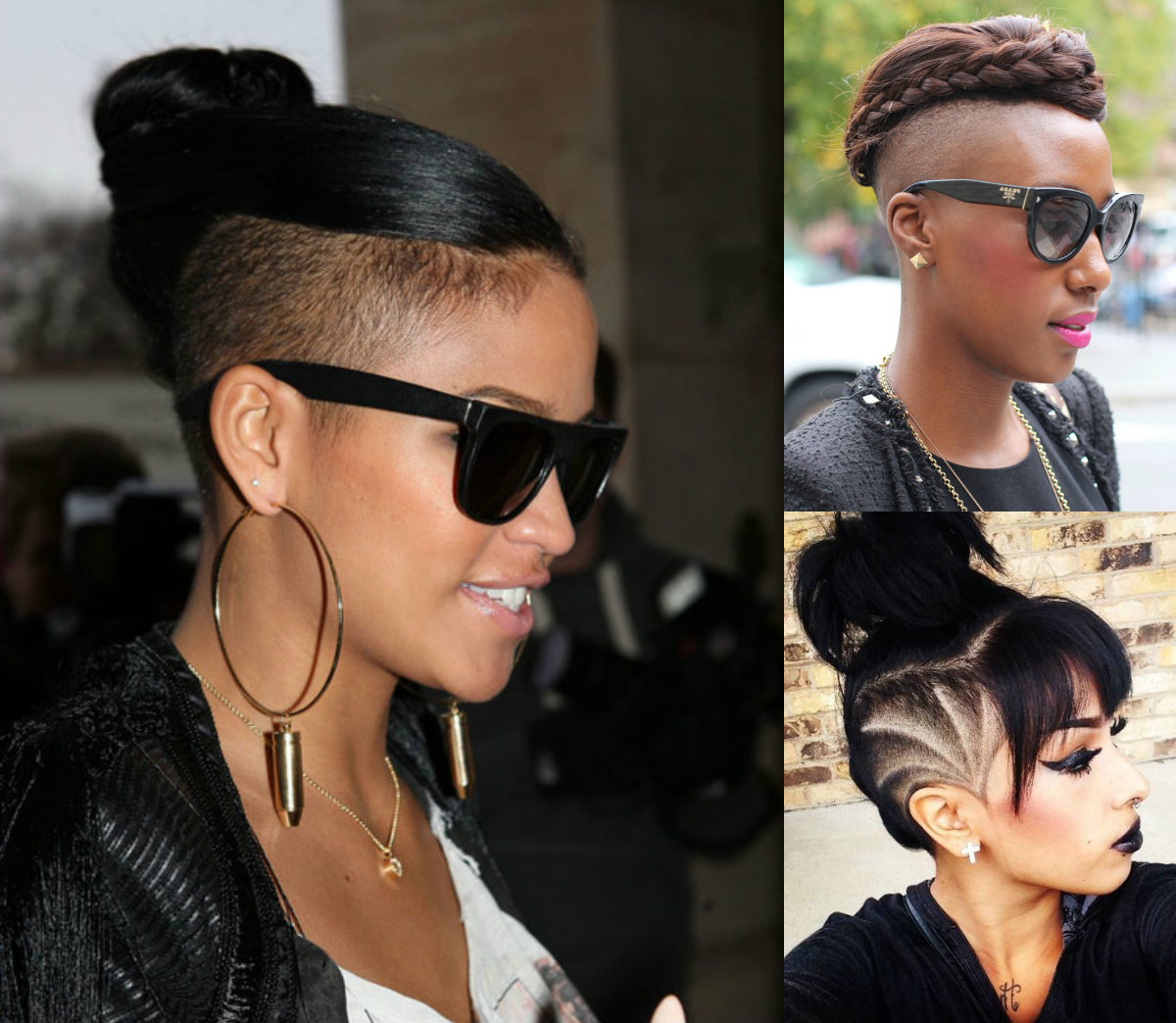 Current Medium Hairstyles With Shaved Sides For Women Regarding Updo Hairstyles For Half Shaved Hair (View 16 of 20)